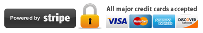 secured by stripe all major credit cards accepted